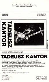 Audio Arts: Tadeusz Kantor