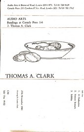 Audio Arts: Thomas A. Clark, Readings at the Coracle Press
