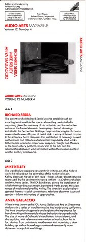 Audio Arts: Volume 12 No 4