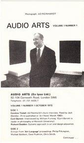 Audio Arts: Volume 1 No 1