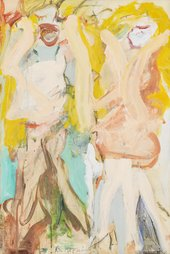 Women Singing II 1966 by Willem de Kooning