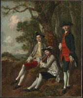 Peter Darnell Muilman, Charles Crokatt and William Keable in a Landscape c.1750, by Thomas Gainsborough