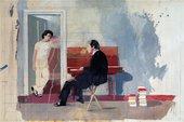Sitting for Hockney