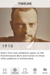 Multimedia guide app for The EY Exhibition: Paul Klee