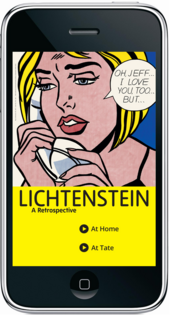 Lichtenstein: A Retrospective exhibition apps