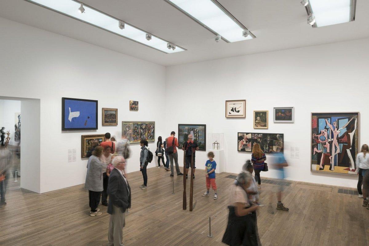 英國泰德當代美術館(Tate Modern)的展廳。(取自Tate Modern網站)