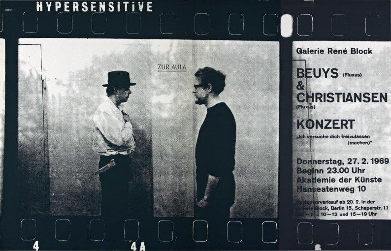 Fig.1 Invito a Voglio liberarti (Ich versuche dich freizulassen (machen)) di Joseph Beuys e Henning Christiansen, Akademie der Künste, Berlino, 27 febbraio 1969