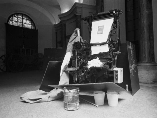 Fig.2 Joseph Beuys, Terremoto 1981, installato a Palazzo Braschi, Roma, 1981