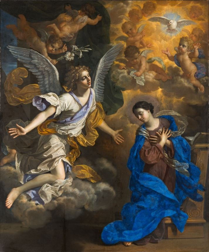 Benedetto Gennari The Annunciation 1686 Collection of The John and Mable Ringling Museum of Art, the State Art Museum of Florida, Florida State University, Sarasota, Florida