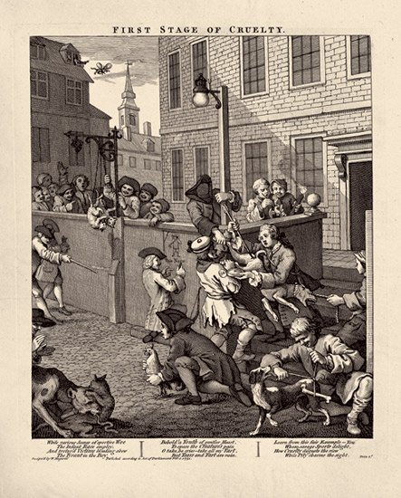 Hogarth Hogarths Modern Moral Series The Four Stages Of Cruelty