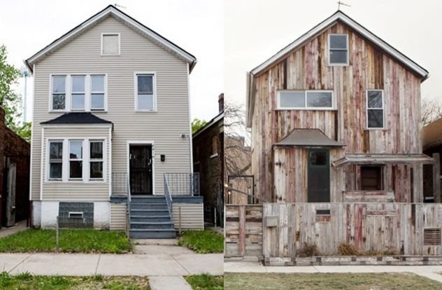 Theaster Gates, Archive House Past (2009) and Present (2013) photos: Sara Pooley 2013