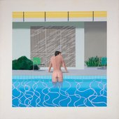 David Hockney Peter Getting Out of Nick's Pool 1966 Collection Walker Art Gallery, Liverpool © David Hockney Photo Credit: Richard Schmidt