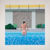David Hockney Peter Getting out of Nick's Pool 1966