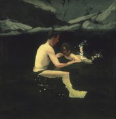 Michael Andrews, Melanie and Me Swimming 1978-9. Tate Purchased 1979