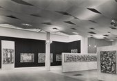 Installation view of the Jackson Pollock exhibition at the Whitechapel Art Gallery, London, 1958