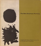 Cover of The New American Painting, exhibition catalogue, Tate Gallery, London 1959