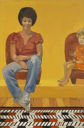 Emma Amos Eva the Babysitter 1973 Courtesy of Emma Amos, the Amos family, and RYAN LEE Gallery
