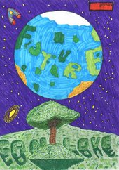 a drawing of the earth with the words A Future I Can Love