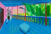 David Hockney, Garden with Blue Terrace, 2015, Private Collection © David Hockney Photo Credit: Richard Schmidt