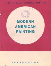 Cover of Modern American Painting, exhibition catalogue, Laing Gallery, Newcastle 1961