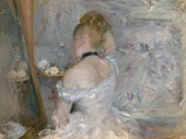 A woman at her toilette, in impressionist style, by Berthe Morisot