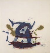 photograph of painting by Helen Frankenthaler