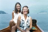 a photo of Dorothea Tanning and Mimi Johnson on a boat