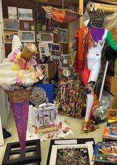 Photograph of items inside Chila Kumari Singh Burman's studio