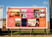 photograph of Tate Collective billboard with photographs