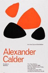 Poster for Alexander Calder: Sculpture, Mobiles, Tate Gallery, 1962