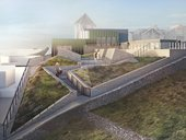 Artists impression of the roof top garden