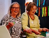 smiling women taking part in look group day at tate st ives