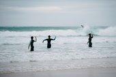 Dancers in the sea
