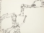 Huguette Caland Mustafa acrobate (Mustafa Acrobat) 1971