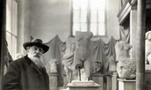 Rodin in front of his collection of antiquescirca 1910, Musée Rodin. Photo: Albert Harlingue