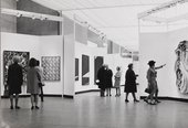 Installation view of 54–64: Painting and Sculpture of a Decade, Tate Gallery, London, 1964