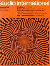 Cover of Studio International, January 1966