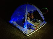 La Lune by Bonita Ely - a light up sculpture of a tent in the darkness