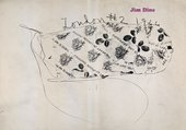 Cover of Jim Dine: London 1966, exhibition catalogue, Robert Fraser Gallery, London 1966