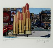 Claes Oldenburg, Lipsticks in Piccadilly Circus, London 1966