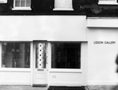 Photograph of the facade of the Lisson Gallery, Bell Street, London, 1973