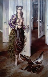 Image of Dorothea Tanning's painting Birthday 1942