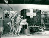 Installation view of Edwards Kienholz's Portable War Memorial 1968 in the exhibition Pop Art, Hayward Gallery, London,1969
