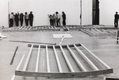 Installation view of the exhibition Larry Bell / Robert Irwin / Doug Wheeler, Tate Gallery, London, 1970