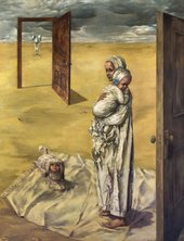 Image of Dorothea Tanning's painting Maternity 1946-1947