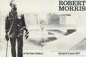 Exhibition poster for Robert Morris, Tate Gallery, 1971