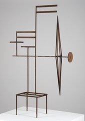 Metal mobile-like sculpture