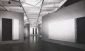 Installation views of the Barnett Newman exhibition at the Tate Gallery, London 1972
