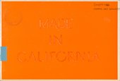 Cover of Made in California, exhibition catalogue, Mappin Gallery, Sheffield 1973