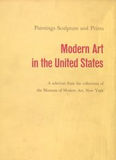 Cover of Modern Art in the United States: A Selection from the Collections of the Museum of Modern Art, New York, exhibition catalogue, Tate Gallery, London 1956